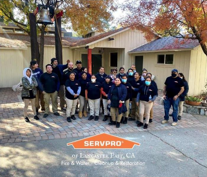 group photo of SERVPRO of Lancaster East workers